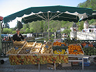 The weekly market at Brantome